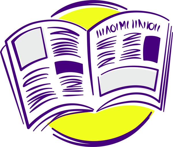 Illustration einer aufgeschlagenen Zeitschrift